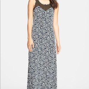 Vince Camuto Doodle Chiffon Overlay Maxi Size Smal